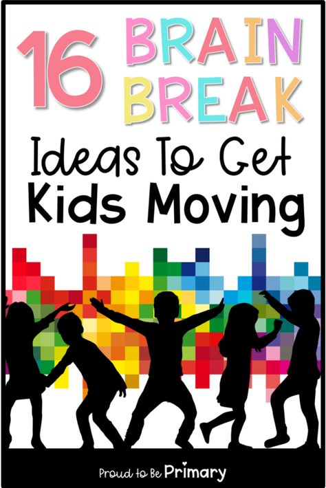 Try these fun brain break ideas to help active kids stay focused and learn at their best like yoga, Go Noodle, and printable cards. Brain break activities are great for incorporating movement into your day in and out of the elementary classroom. Brain Breaks For Kindergarten, Whole Brain Teaching, Teaching Kids, Kindergarten Lessons, Movement Activities, Activities For Kids, Physical Activities, Music Activities, Elderly Activities