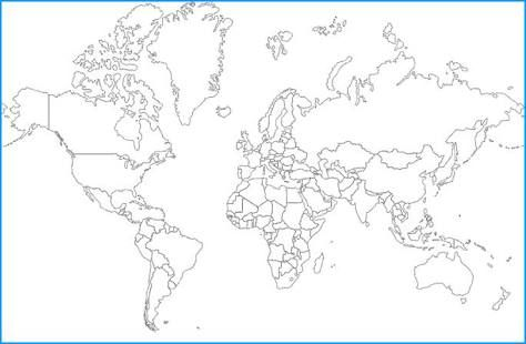 Pin by Angela Nelson on For the Home Pinterest Bullet journals - new black and white world map with continents labeled