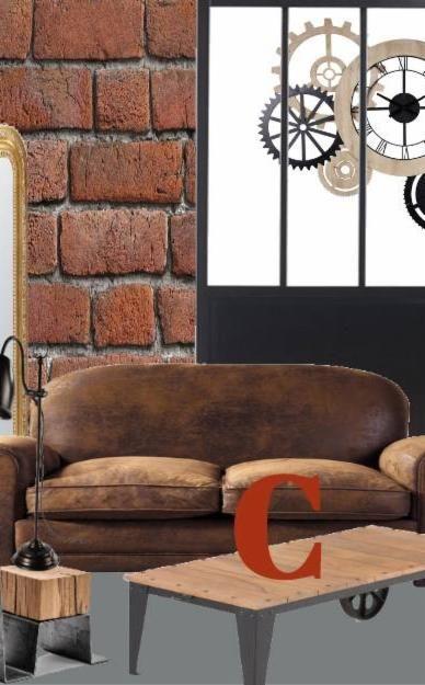 Voila Les Codes Du Salon De Style Industriel Canape Style Industriel Salon Style Industriel Deco Maison
