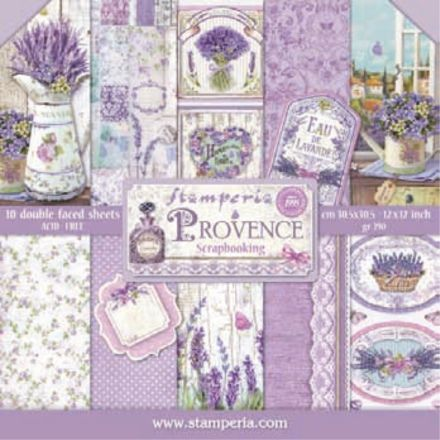 12x12 Paper Pad Provence 10 Double Sided Sheets By Stamperia For Scrapbooks Cards Crafting Paper Pads Scrapbook Paper Provence