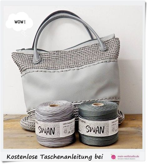 Mein Wollstudio L Wolle Und Handarbeit Anleitung Tasche Swan Grau Online Kaufen Taschen Anleitungen Taschen Taschen Leder