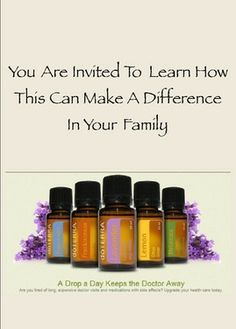 doTERRA Essential Oil ClassClass Invitation Pack of 40