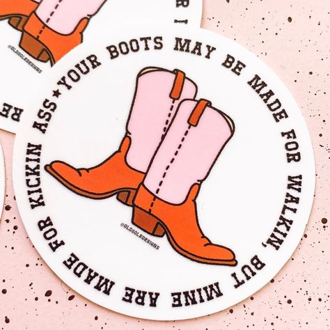Kickin Ass Cowgirl Vinyl Sticker - Cowgirl, Rodeo, Western Accessories - Gift for Country Girls Cowgirl Tuff, Cowgirl Style, Bid Day Themes, Western Art, Western Style, Cowgirl Jewelry, Sister Quotes, Daughter Quotes, Mother Quotes