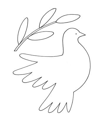 Dove Holding Olive Branch Craft and Toy – 1 Page | Printable Craft ...