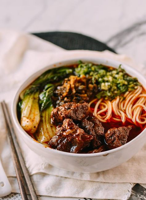 Taiwanese Beef Noodle Soup: In an Instant Pot Or on the Stove, Baking Cuisine beef noodle soup Cuisine chinese Cuisine food recipes Cuisine taiwan food Top Recipes, Asian Recipes, Beef Recipes, Cooking Recipes, Healthy Recipes, Simple Recipes, Blender Recipes, Summer Recipes, Beef And Noodles
