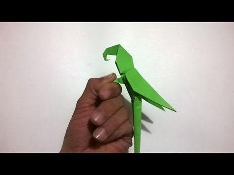 Origami Macaw Parrot - COMO HACER UN LORO DE PAPEL - YouTube