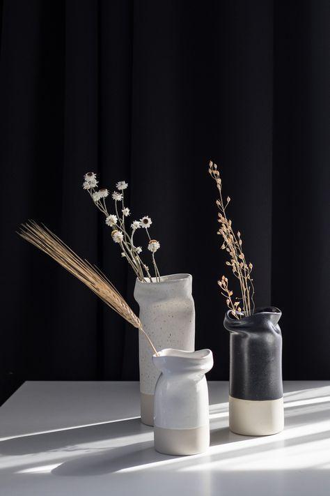 Vase - Vases, Modern, Minimal Pottery, One of a Kind Vase, Design Award Finalist, Flower Vase, Ceramic Vase, Pottery Vase, Nicole Novena