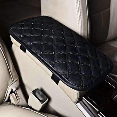 Leather Car Armrest Pad Covers Universal Center Console Auto