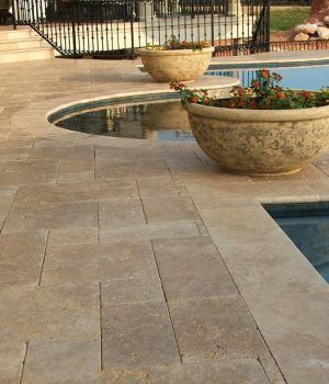 Classic Ivory 12 X 24 X 3 Cm Tumbled Travertine Pavers In 2020 Travertine Pavers Travertine Patio Pavers