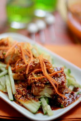 Masam Manis Tauhu Bakar Dan Sambal Petis Malay Food Food