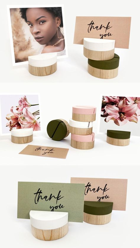 Are you looking for perfect place card holders for your wedding? Or maybe you need photo holders for your favourite pictures? These wooden card holders are so versatile! Made from eco-friendly quality wood and hand painted in Minnesota. Wood photo holders can hold your notes, cards, names and more! Shop now at Wooden Objects Co! #placecardholder #woodplacecardholder #woodencardholder #photoholder