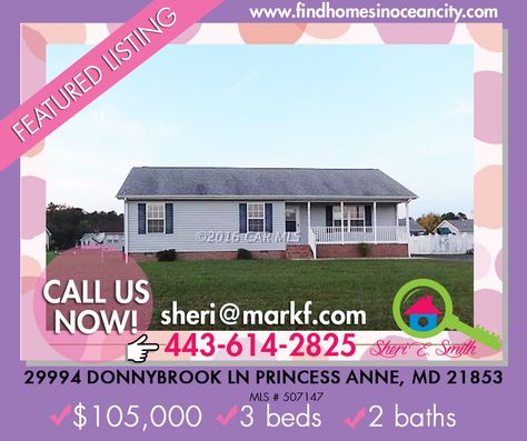 Featured Listing: 29994 Donnybrook Ln Princess Anne, MD 21853