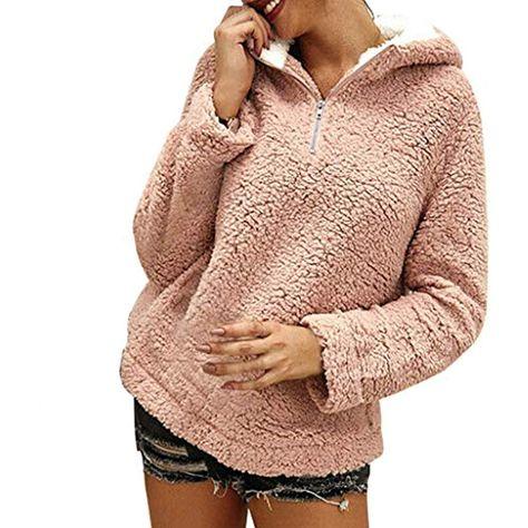 Damen Kapuze Fleece Warm Kapuzenpullover Sweatshirt Hoodie Winterjacke Tops