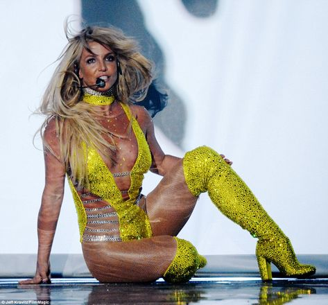 She's ba-ack! Britney Spears returned to the MTV VMA stage for the first time in a decade to perform her brand new single Make Me... on Sunday