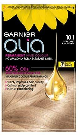 Garnier Olia Very Light Ash Blonde Permanent Hair Dye No Ammonia