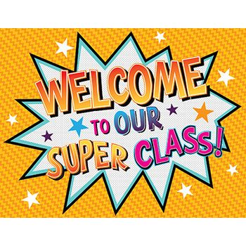 Superheroes Collection, Classroom Welcome Chart, 22 x 17 Inches, Multi-Colored | Superhero classroom theme, Superhero classroom, Hero classroom theme
