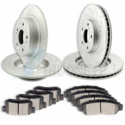 Full Kit PowerSport Cross-Drilled Brake Rotors Disc and Ceramic Pads Flex,Taurus