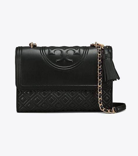 58f40450a365 Tory Burch Fleming Convertible Shoulder Bag - Bright Azalea