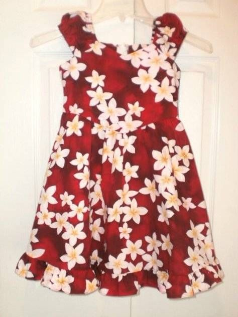 6c1590e6a GIRLS sz 6 ROYAL CREATIONS red HAWAIIAN DRESS sleeveless SUNDRESS cute!  #RoyalCreations #Everyday | Girls' Clothing | Dresses, Pink dress, Floral  tops