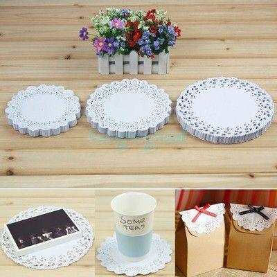 150PCS Paper Lace Doilies Wedding Party Doily Cake Plate Decoration Scrapbooking