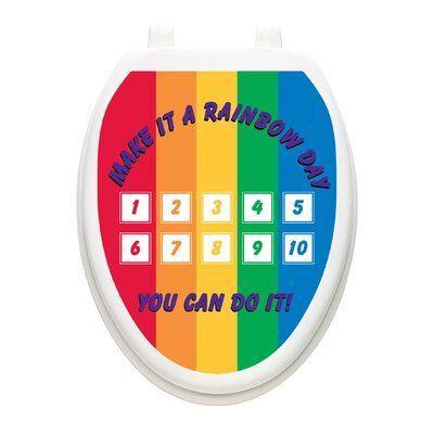 Toilet Tattoos Toilet Training Rainbow Toilet Seat Decal Size Elongated Toilet Training Toilet Seat Dog Toilet