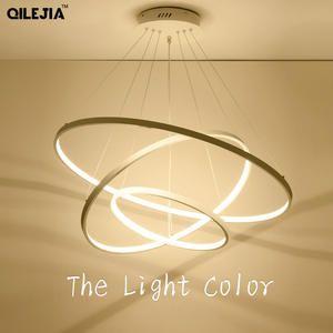 أسود أبيض إطار قلادة Led أضواء لغرفة الطعام مصباح الحديثة التحكم عن بعد الإضاءة بريقا خمر قلادة مصباح Abajur Dero Pendant Lighting Modern Lighting Light