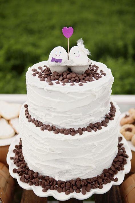Cake topper de huevos