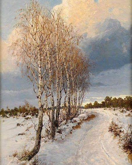A Painting A Day On Instagram Albert Ernst Muhlig Winter Storm