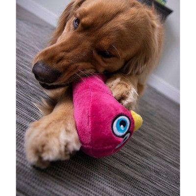Hear Doggy Penguin Silent Squeak Plush Dog Toy Pink L Dog