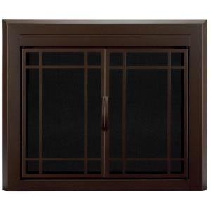 Pleasant Hearth Fenwick Medium Glass Fireplace Doors Fn 5701 The Home Depot In 2020 Fireplace Doors Fireplace Glass Doors Glass Fireplace
