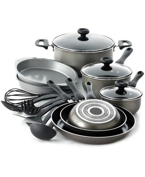 Farberware Nonstick Dishwasher Safe 17 Piece Cookware Set