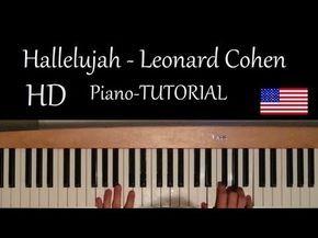 How to play: - Hallelujah  Original Piano lesson  Tutorial