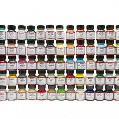 Angelus Brand Acrylic Leather Vinyl Waterproof Paint Color Chart 720 Collection Deri Isleme Deri