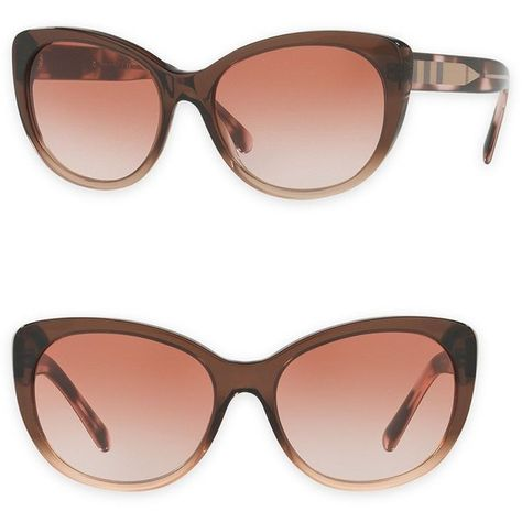 5561a2544eb85 Burberry 0BE4224 57mm Cat-Eye Sunglasses ( 161) ❤ liked on Polyvore  featuring accessories
