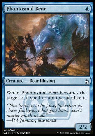 Phantasmal Bear Masters 25 With Images The Gathering Magic