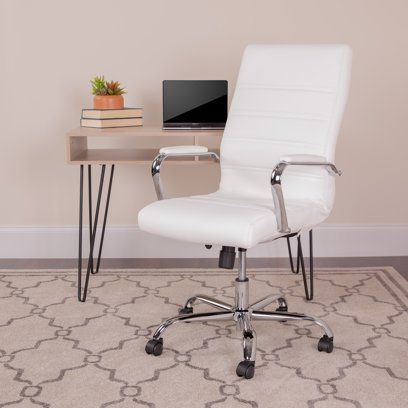 Executive Mid Back Chair Walmart Com In 2020 Conference Chairs Chair Leather Office Chair