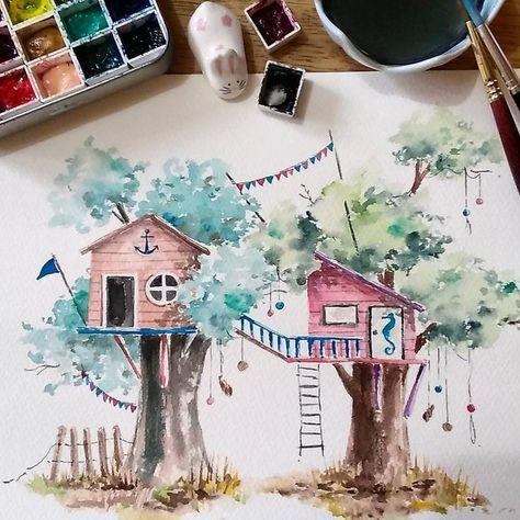 Beach Themed Tree House Neighborhood Commission Treehouseseries