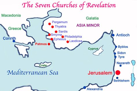 Bible Candlestick The Isle Of Patmos And The Seven Churches Of