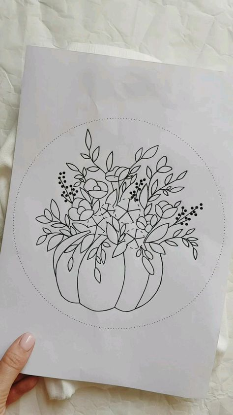 Hand embroidery pattern + full video tutorial