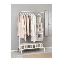 Ikea Armadi E Guardaroba.Rigga Stand Appendiabiti Bianco Idee Ikea Disegni Armadio E