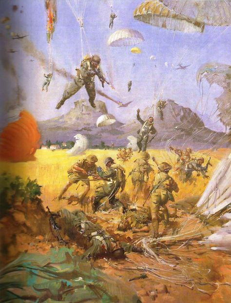 Battle for Crete- 1941 (painting by Terence Cuneo) - pin by Paolo Marzioli