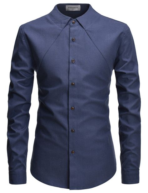 Hajotrawa Mens Button Up Inner Contrast Casual Pleated Short Sleeve Shirts