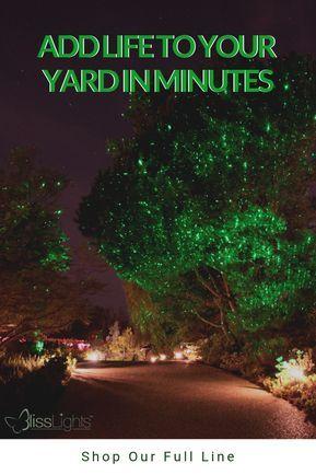 Add Life To Your Yard In Minutes Blisslights Mini Duo Rg Multicolor Laser Projectors Indoor Backyard Landscaping Designs Outdoor Backyard Backyard Lighting