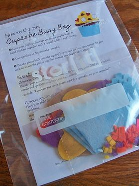 Build-Your-Own Cupcakes Busy Bag (free printable patterns & instructions)
