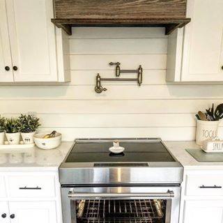 With One Of Our Pot Fillers Over The Kitchen Stove And Aesthetic Placement Of Greenery And Useful Tableware Pot Filler Kitchen Kitchen Remodel Kitchen Decor