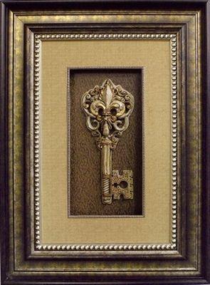Visser Jeweled Key With Fleur De Lis Framed Picture 27 X 37 Shop Www Crownjewel Design Tuscan Art Tuscan Decorating Tuscan Wall Art