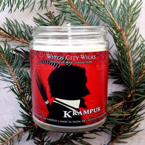 Krampus Candle from Witch City Wicks' Holiday Collection #creepmas
