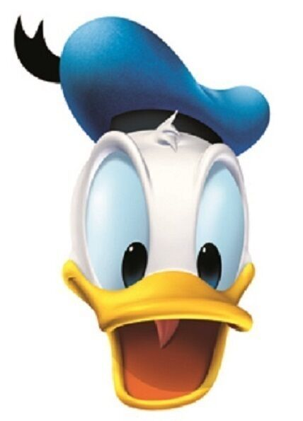 Great for Children/'s Parties Donald Duck Disney Single 2D Card Fun Face Mask