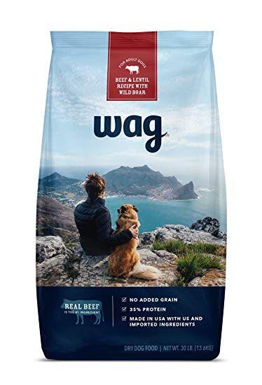 Wag Dry Dog Food Beef Lentil Recipe With Wild Boar 30 Lb Bag