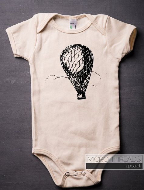Cute Love Parachuting-Skydiving Crawler Short Sleeve Cotton Rompers for Unisex Baby